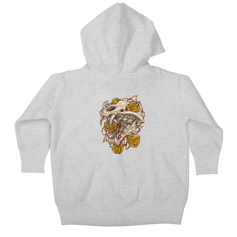 Golden Panther Kids Baby Zip-Up Hoody by villainmazk's Artist Shop