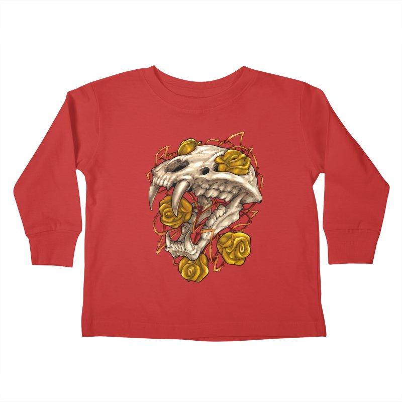 Golden Panther Kids Toddler Longsleeve T-Shirt by villainmazk's Artist Shop