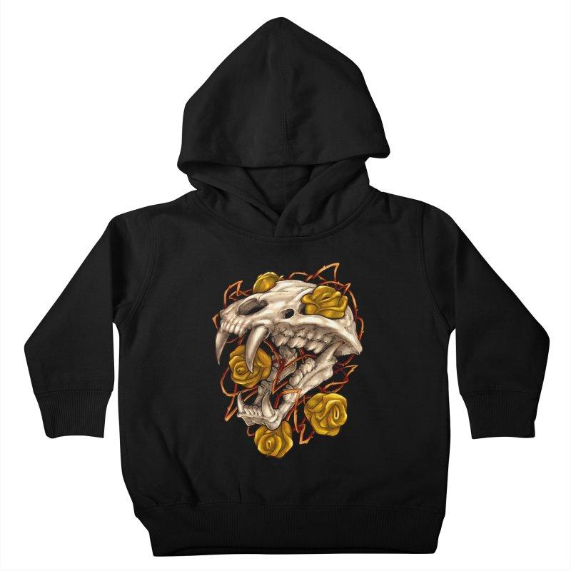 Golden Panther Kids Toddler Pullover Hoody by villainmazk's Artist Shop