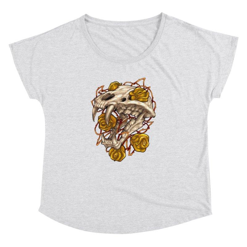 Golden Panther Women's Dolman Scoop Neck by villainmazk's Artist Shop