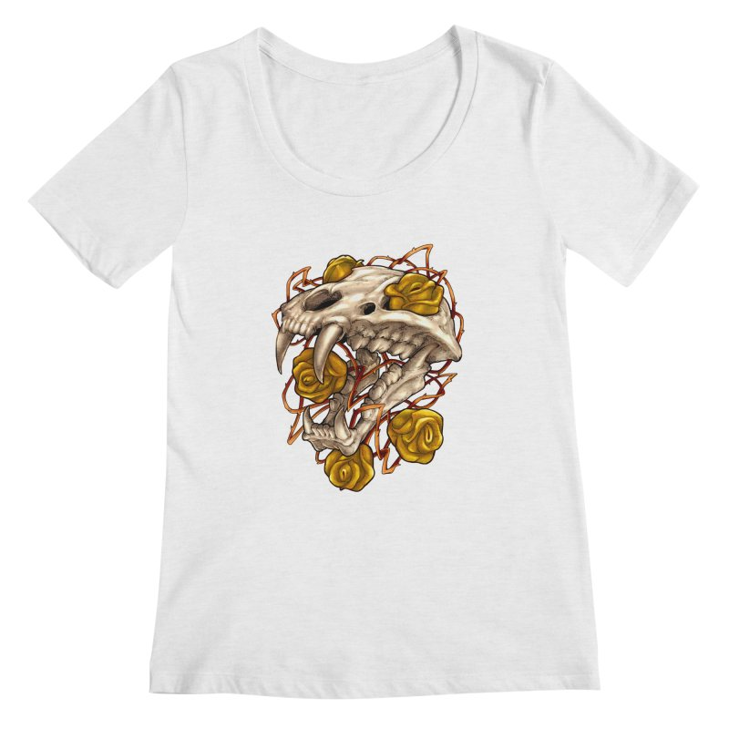 Golden Panther Women's Regular Scoop Neck by villainmazk's Artist Shop