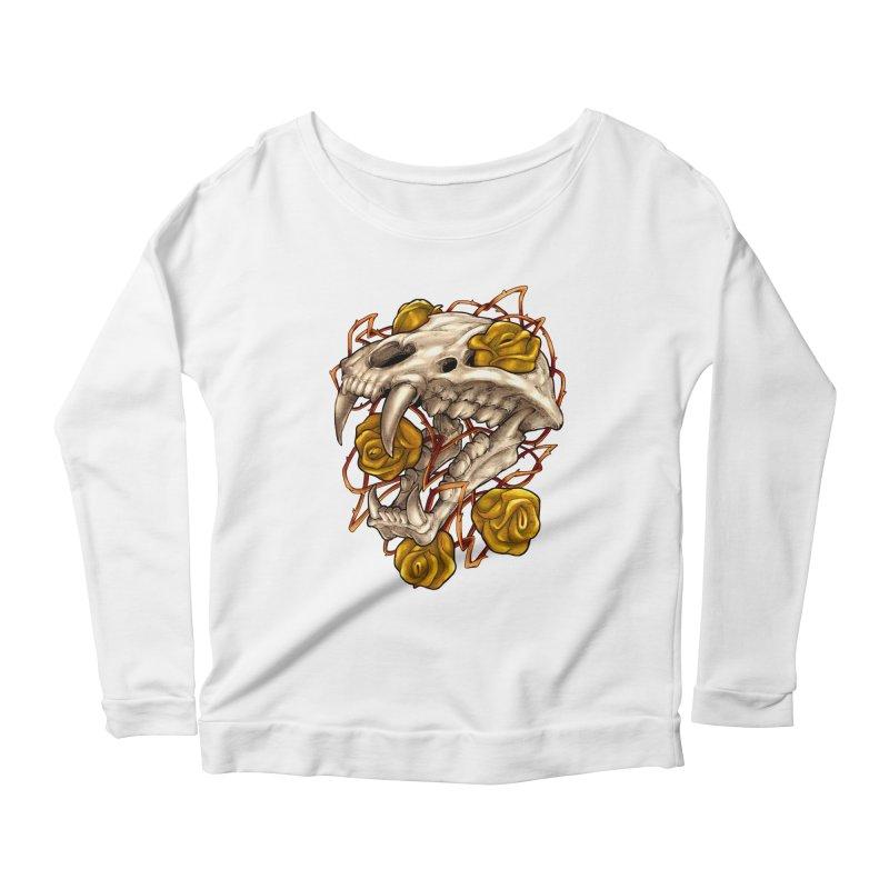 Golden Panther Women's Scoop Neck Longsleeve T-Shirt by villainmazk's Artist Shop
