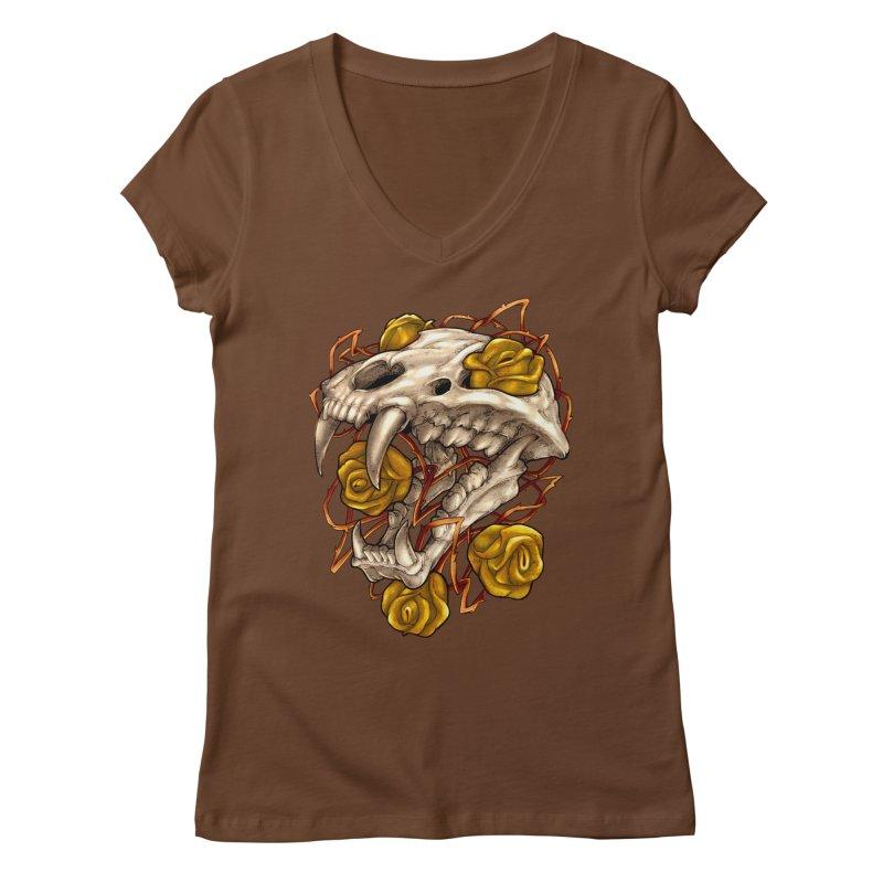 Golden Panther Women's Regular V-Neck by villainmazk's Artist Shop