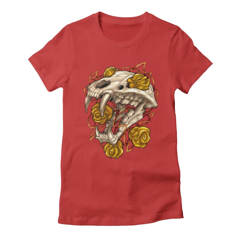 Golden Panther Women's T-Shirt by villainmazk's Artist Shop