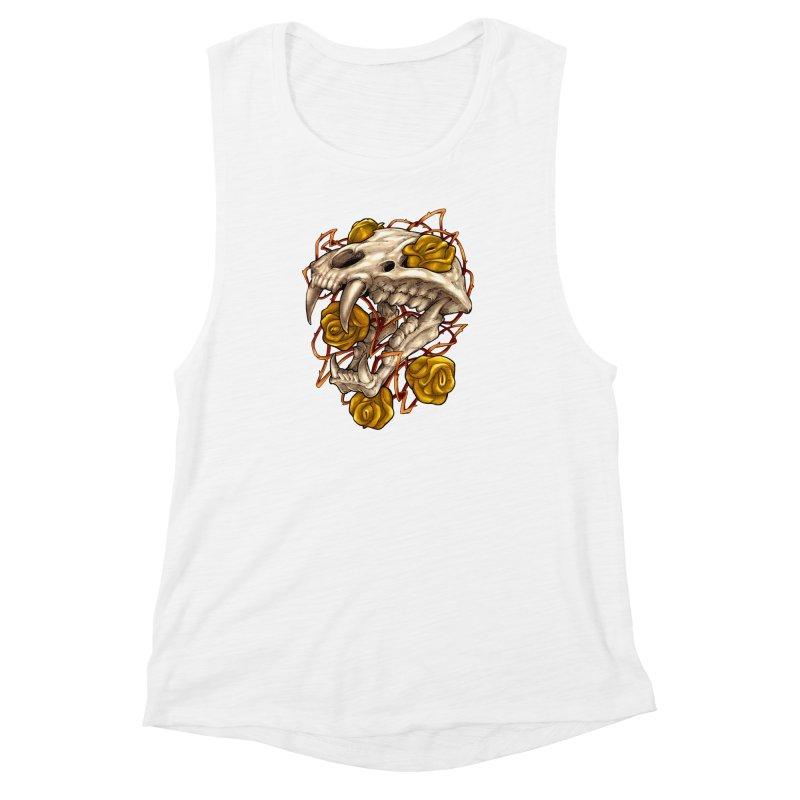 Golden Panther Women's Muscle Tank by villainmazk's Artist Shop