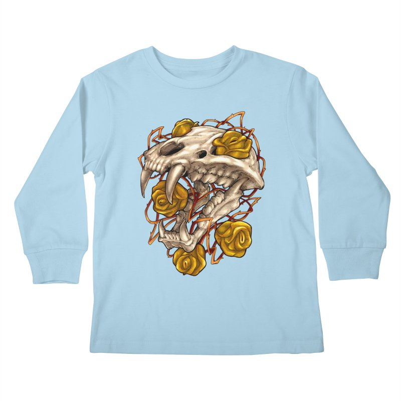 Golden Panther Kids Longsleeve T-Shirt by villainmazk's Artist Shop