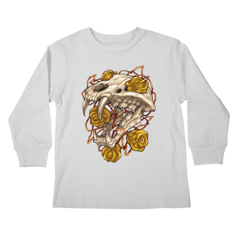 Golden Panther Kids Longsleeve T-Shirt by villainmazk's Artist Shop