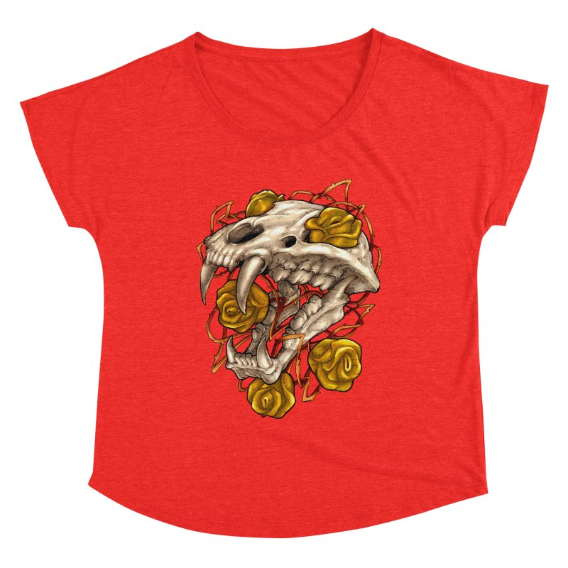 Golden Panther Women's Scoop Neck by villainmazk's Artist Shop