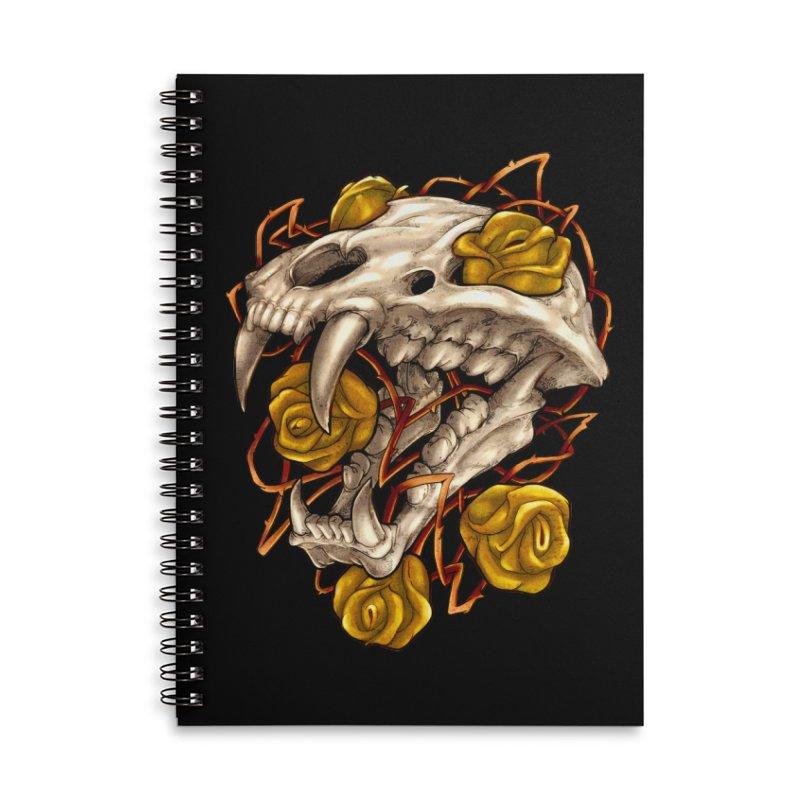 Golden Panther Accessories Lined Spiral Notebook by villainmazk's Artist Shop