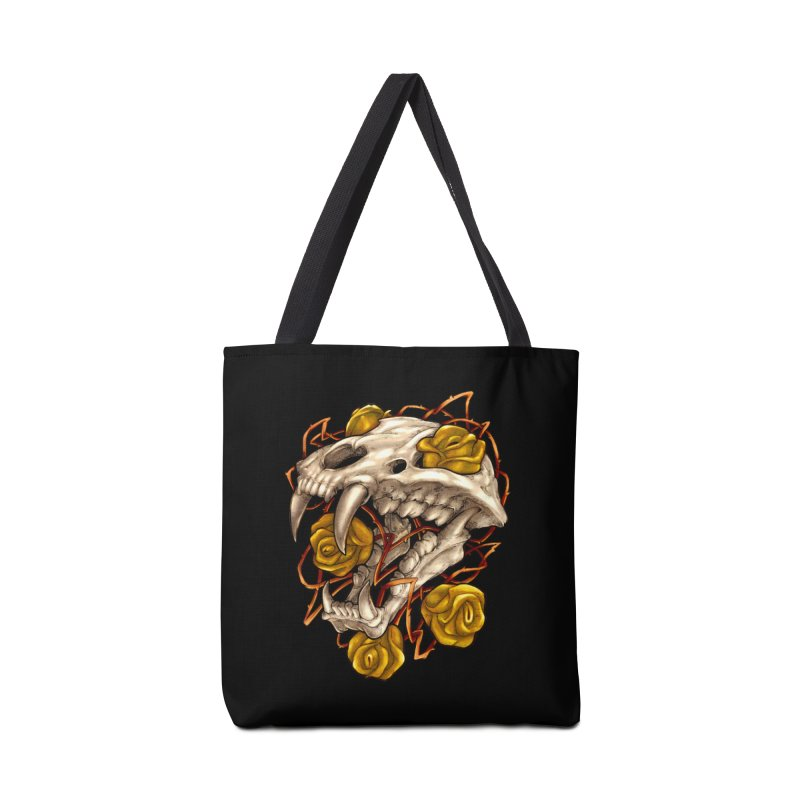 Golden Panther Accessories Tote Bag Bag by villainmazk's Artist Shop