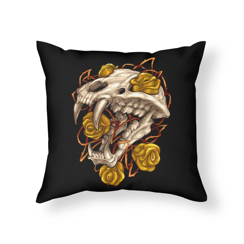 Golden Panther Home Throw Pillow by villainmazk's Artist Shop