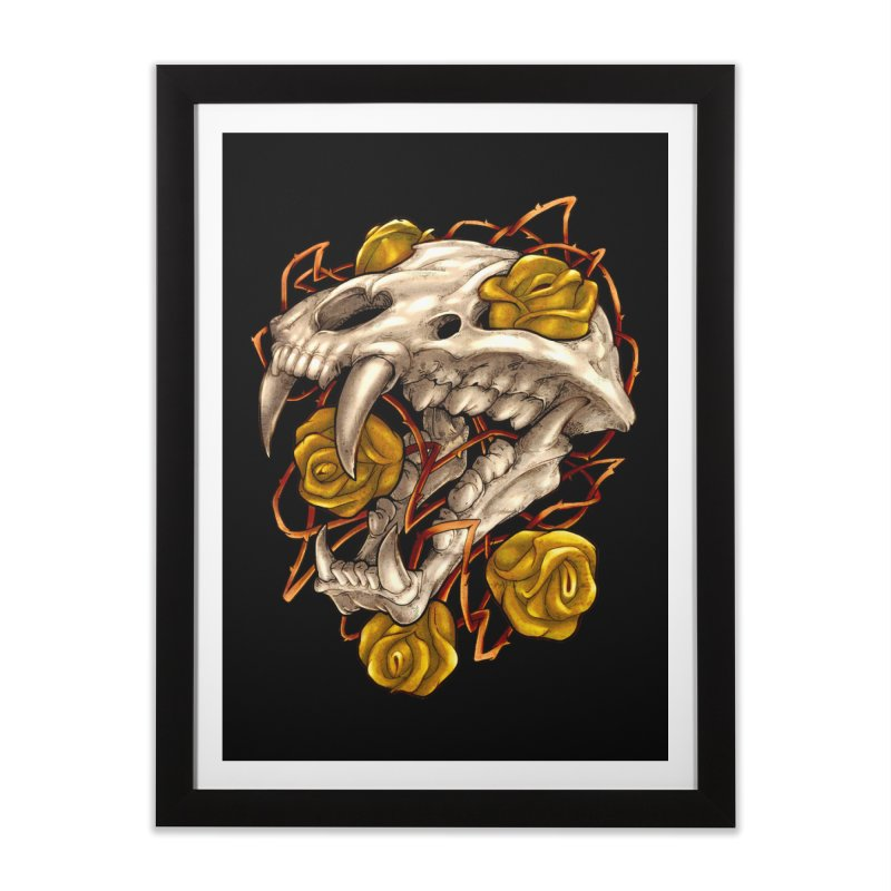 Golden Panther Home Framed Fine Art Print by villainmazk's Artist Shop
