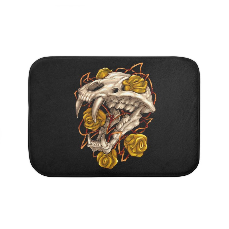 Golden Panther Home Bath Mat by villainmazk's Artist Shop