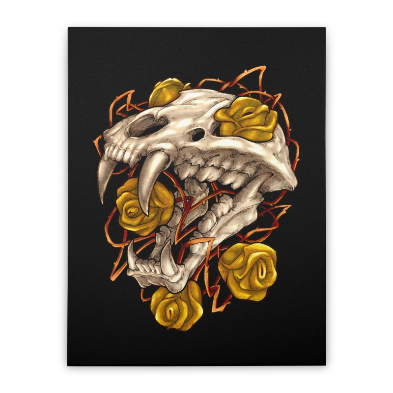 Golden Panther Home Stretched Canvas by villainmazk's Artist Shop