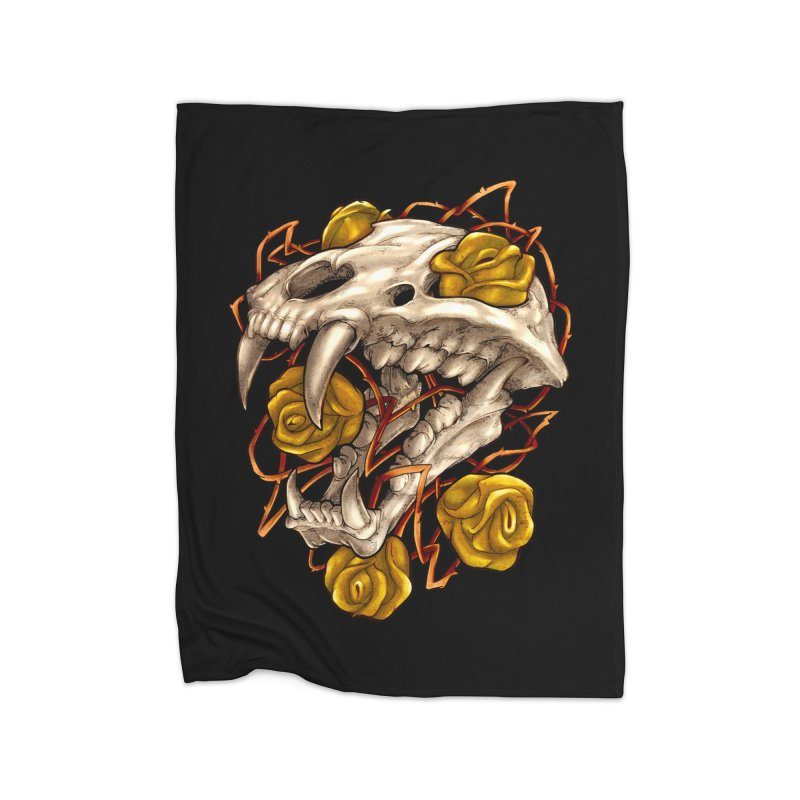 Golden Panther Home Fleece Blanket Blanket by villainmazk's Artist Shop