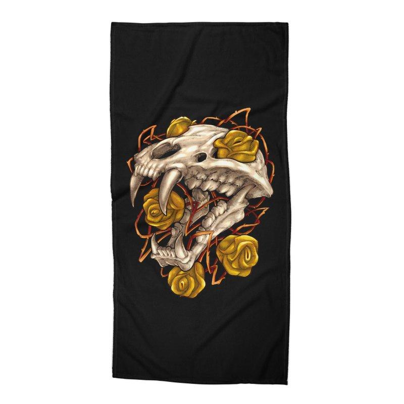 Golden Panther Accessories Beach Towel by villainmazk's Artist Shop