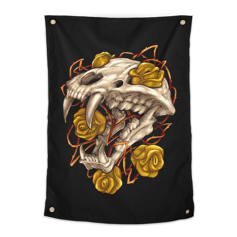 Golden Panther Home Tapestry by villainmazk's Artist Shop