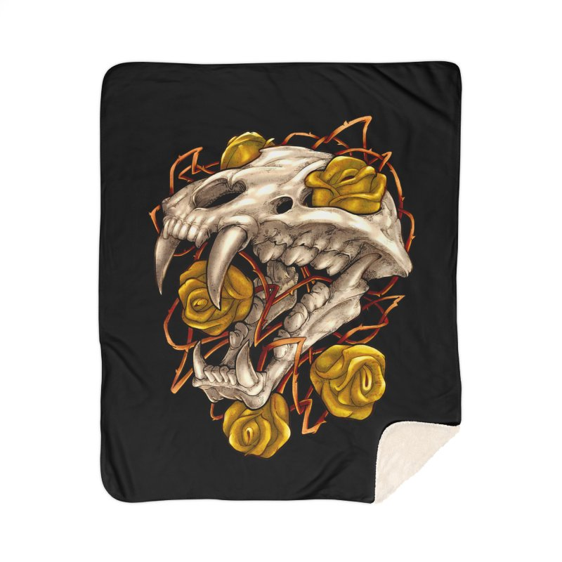 Golden Panther Home Sherpa Blanket Blanket by villainmazk's Artist Shop