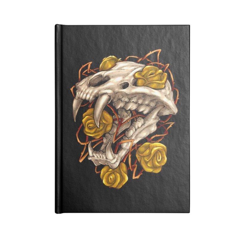 Golden Panther Accessories Lined Journal Notebook by villainmazk's Artist Shop