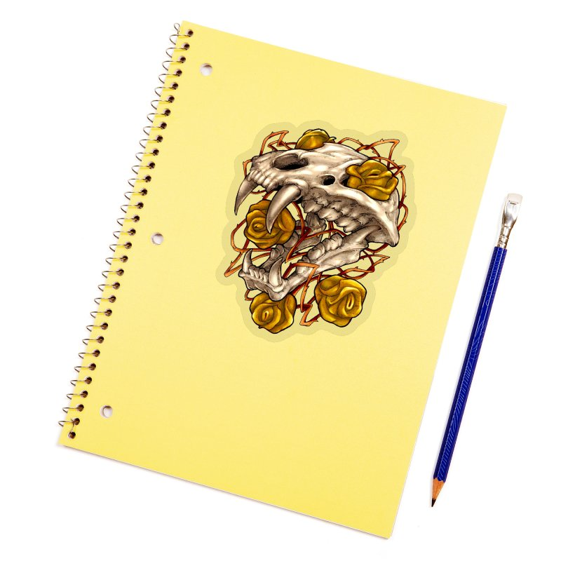 Golden Panther Accessories Sticker by villainmazk's Artist Shop