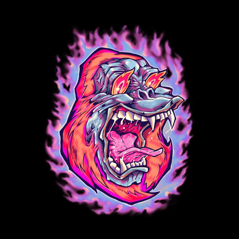 Burning Ape Men's Tank by villainmazk's Artist Shop