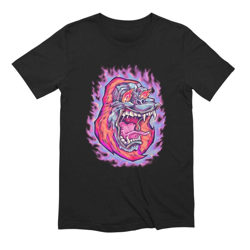 Burning Ape Men's T-Shirt by villainmazk's Artist Shop
