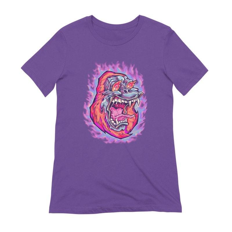 Burning Ape Women's Extra Soft T-Shirt by villainmazk's Artist Shop