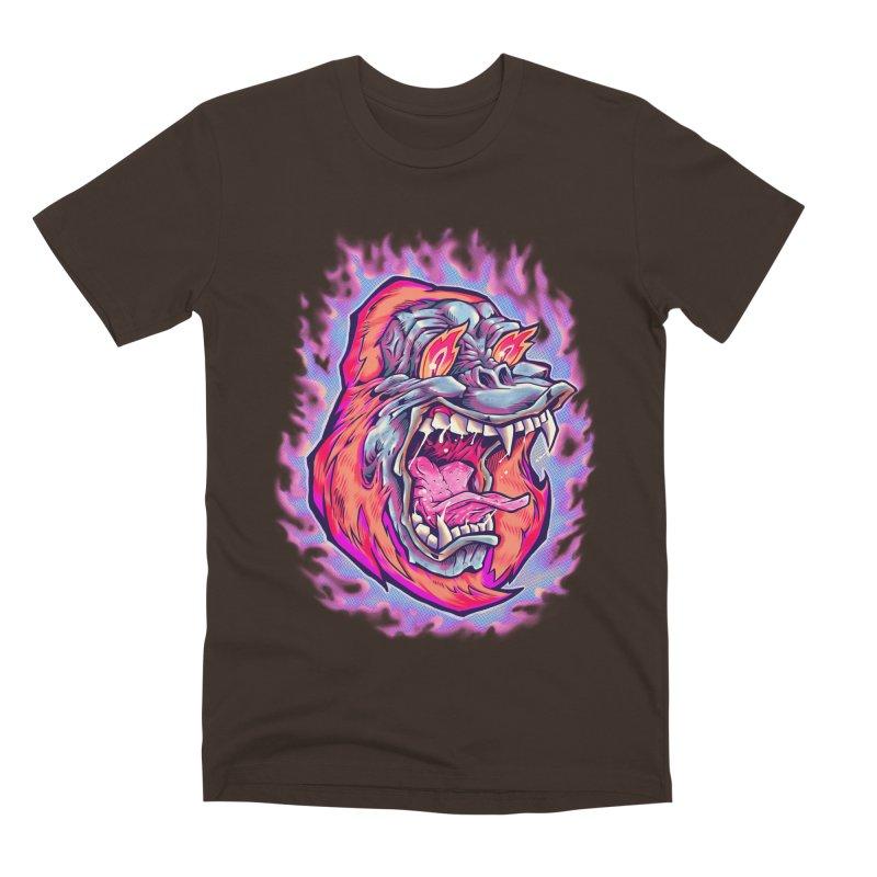 Burning Ape Men's Premium T-Shirt by villainmazk's Artist Shop