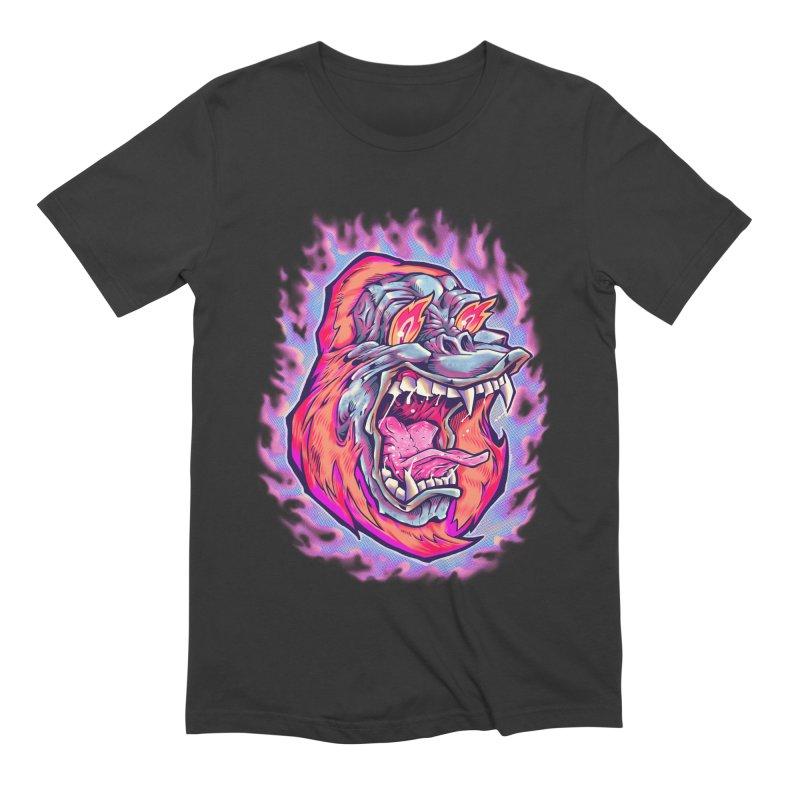 Burning Ape Men's Extra Soft T-Shirt by villainmazk's Artist Shop