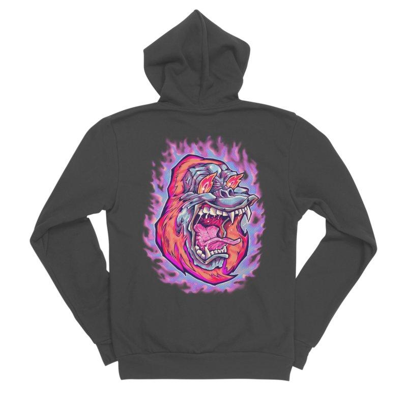 Burning Ape Women's Sponge Fleece Zip-Up Hoody by villainmazk's Artist Shop