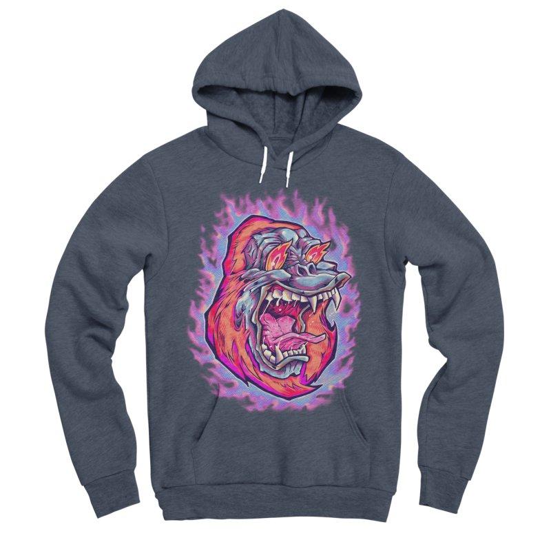 Burning Ape Men's Sponge Fleece Pullover Hoody by villainmazk's Artist Shop