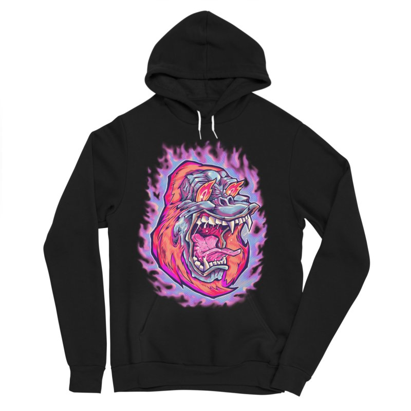 Burning Ape Women's Sponge Fleece Pullover Hoody by villainmazk's Artist Shop
