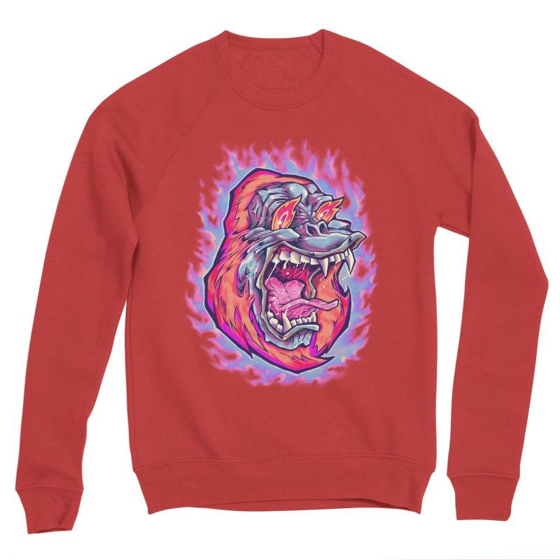 Burning Ape Women's Sponge Fleece Sweatshirt by villainmazk's Artist Shop