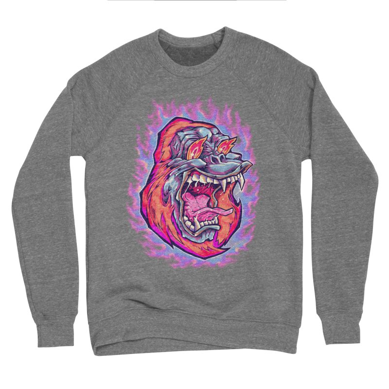 Burning Ape Men's Sponge Fleece Sweatshirt by villainmazk's Artist Shop