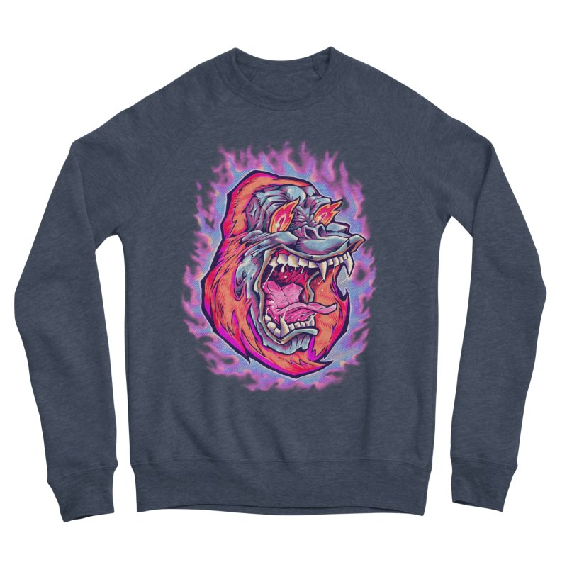 Burning Ape Men's Sponge Fleece Sweatshirt by villainmazk's Artist Shop