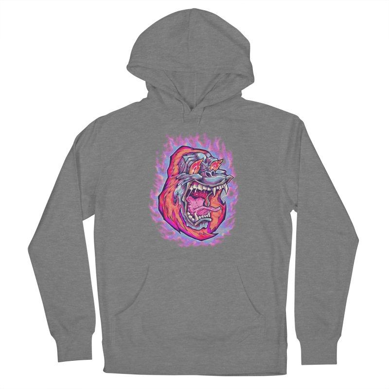 Burning Ape Men's Pullover Hoody by villainmazk's Artist Shop