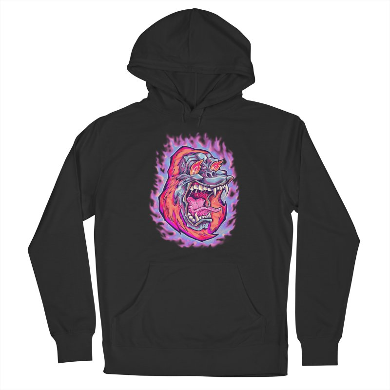 Burning Ape Women's Pullover Hoody by villainmazk's Artist Shop