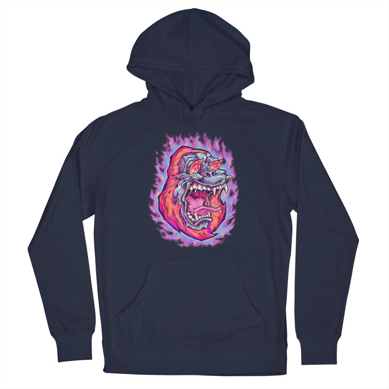 Burning Ape Men's Pullover Hoody by villainmazk's Artist Shop