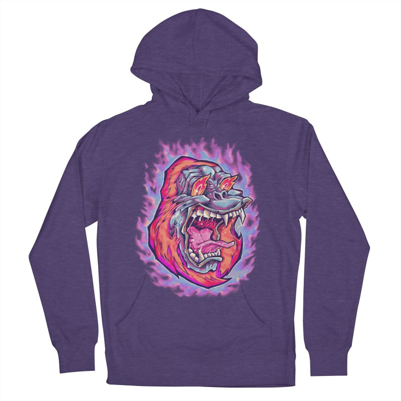Burning Ape Men's French Terry Pullover Hoody by villainmazk's Artist Shop