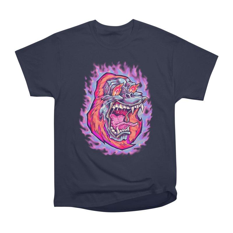 Burning Ape Women's Heavyweight Unisex T-Shirt by villainmazk's Artist Shop