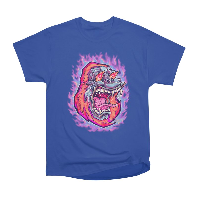 Burning Ape Men's Heavyweight T-Shirt by villainmazk's Artist Shop
