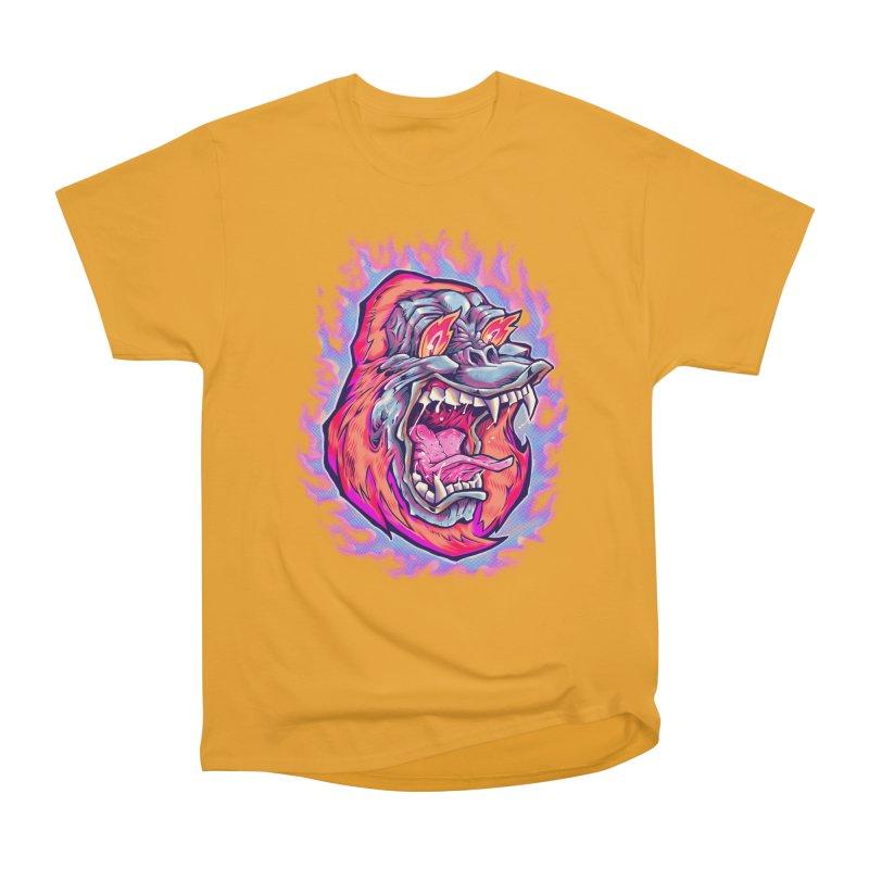 Burning Ape Men's Heavyweight T-Shirt by villainmazk's Artist Shop