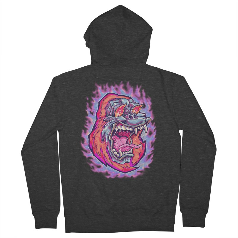 Burning Ape Women's Zip-Up Hoody by villainmazk's Artist Shop