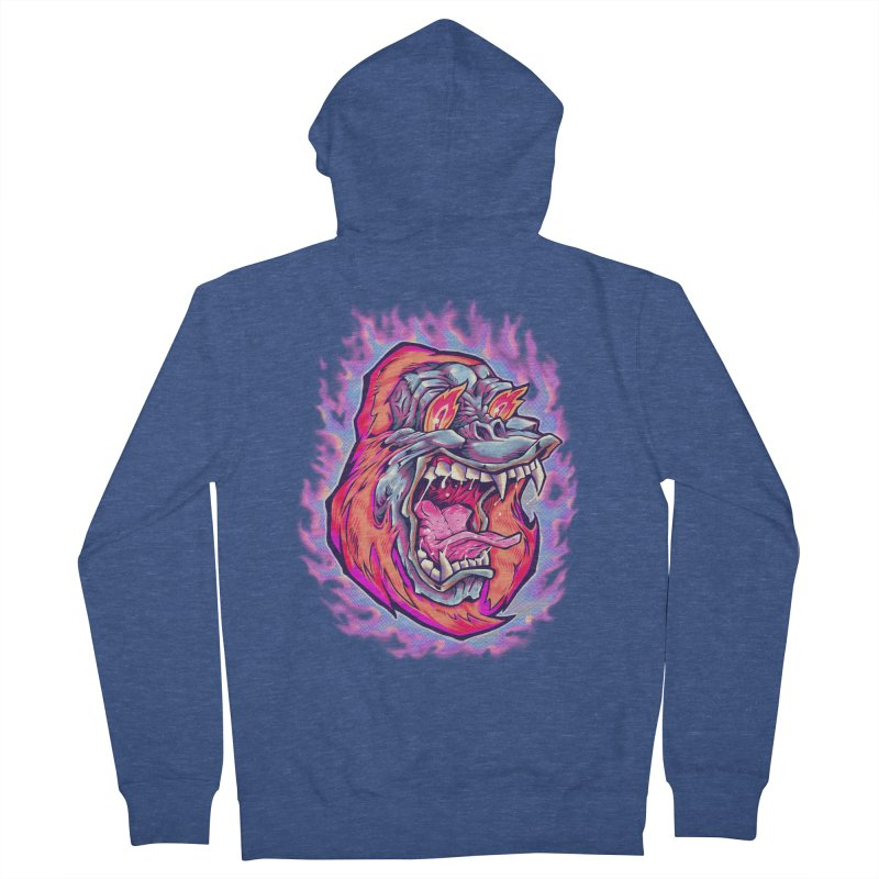 Burning Ape Women's French Terry Zip-Up Hoody by villainmazk's Artist Shop