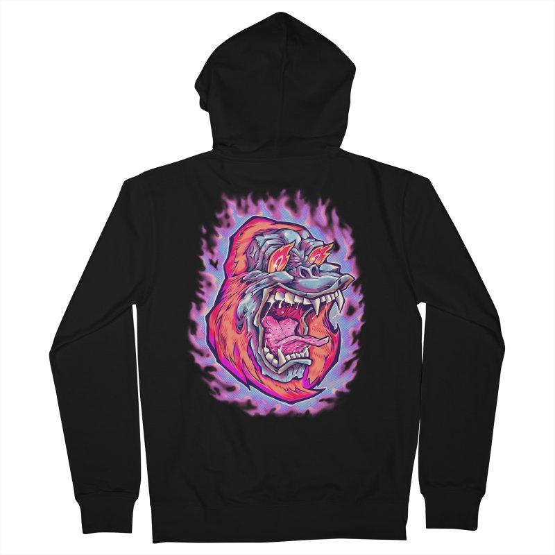 Burning Ape Women's Zip-Up Hoody by villainmazk's Artist Shop