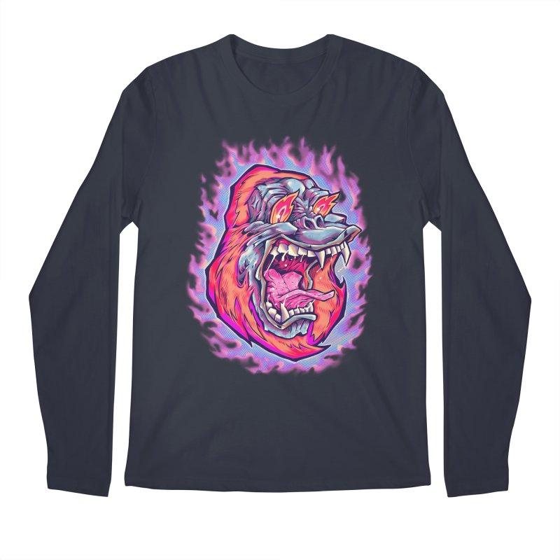 Burning Ape Men's Longsleeve T-Shirt by villainmazk's Artist Shop