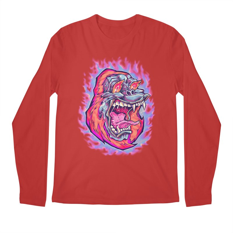 Burning Ape Men's Longsleeve T-Shirt by villainmazk's Artist Shop