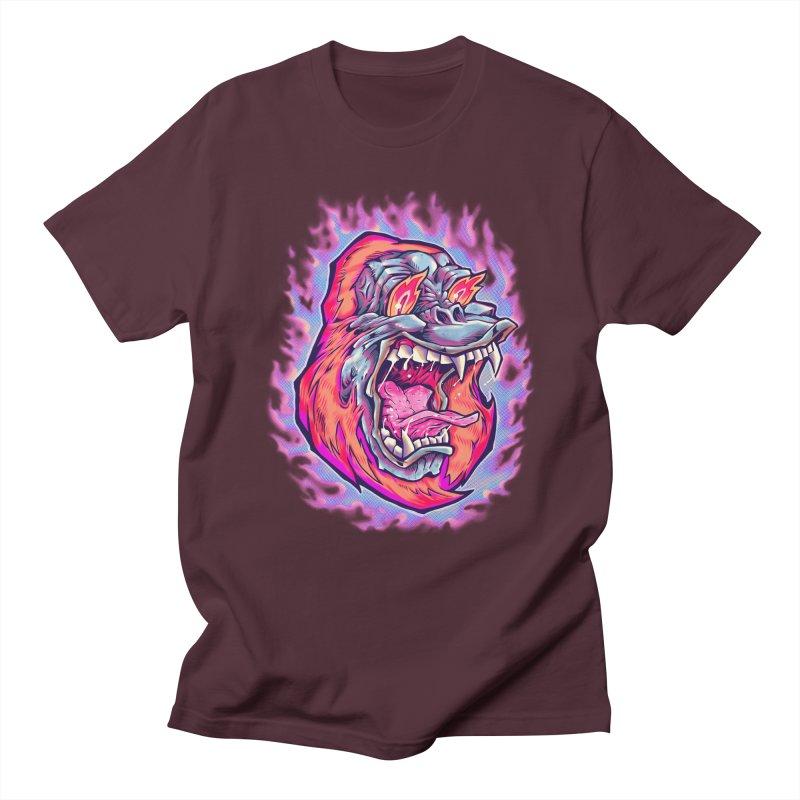 Burning Ape Women's Regular Unisex T-Shirt by villainmazk's Artist Shop