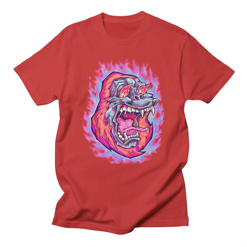 Burning Ape Women's Regular Unisex T-Shirt by villainmazk's Artist Shop