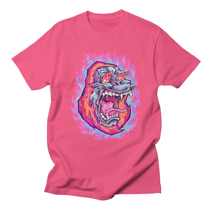 Burning Ape Men's Regular T-Shirt by villainmazk's Artist Shop